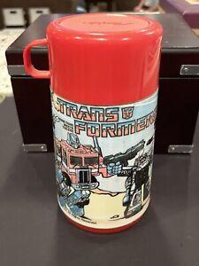 Vintage-1986-Transformers-Metal-Lunchbox-Thermos
