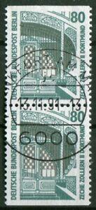 Berlin-796-C-D-Paare-gestempelt-LUXUS-Vollstempel-Frankfurt-Tagesstempel-used