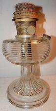Vintage Clear Aladdin Beehive Glass Kerosene Lamp with Nu-Type Model B Burner