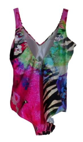 Neuf Grande Taille Femmes Stretch maillot de bain Suit ENCOLURE MULTICOLORE TAILLE 44,46 C