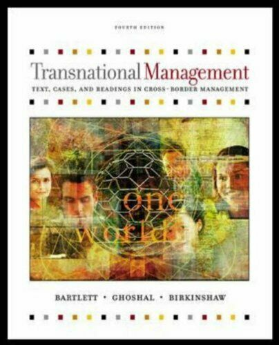 Transnationalen Management: Text Und Cases Sumantra Ghoshal Christopher Bartlett