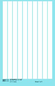 K4 G Decals White 7/16 Inch Stripes Set