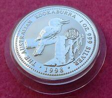 1998 AUSTRALIA KOOKABURRA SPAIN PRIVY MARK ONE DOLLAR COIN BOX AND COA