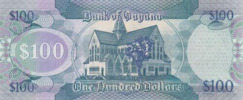 ND//2018 Guyana 100 Dollars Map//Church//p36-New Sig 15 UNC