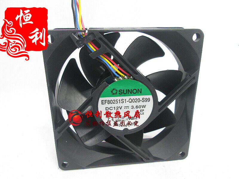 1PC SUNON EF80251S1-Q020-S99 12V 3.60W 80*80*25MM 4-wire PWM cooling fan