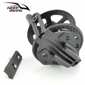 Plastico-Negro-Pesca-Pistola-Pistola-conveniente-Pesca-Submarina-Arpon-submarino-Carrete-K