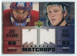 2003-04-Upper-Deck-Memorable-Matchups-TH-Ales-Hemsky-Jose-Theodore-Dual-Jersey