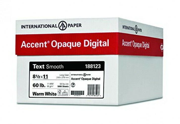 Accent Opaque, Smooth Cover White, 80lb, Ledger, 11 x 17, 97 Bright 1,000 Sheets