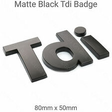 Matt Black 3D Tdi Badge for Land Rover Defender Wing Logo Matte