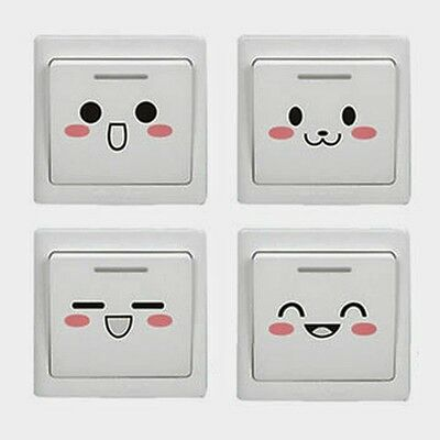 7pc/Set Room Paster Lovely Cartoon Wall Switch DIY Furniture Glass Stickers