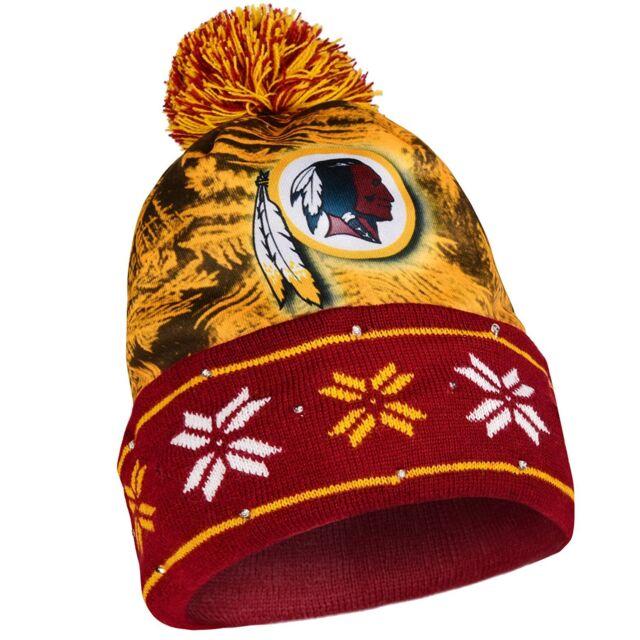 62b44b27 NFL Big Logo Light Up Printed Beanie Hat -Select- Team Below