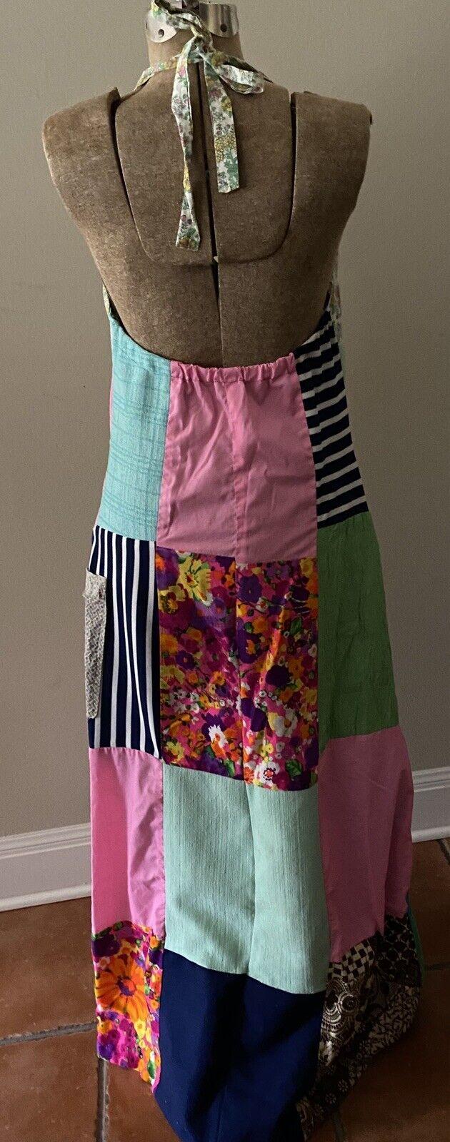 Vintage Handmade 60s Floral Patchwork Quilt Dress… - image 4