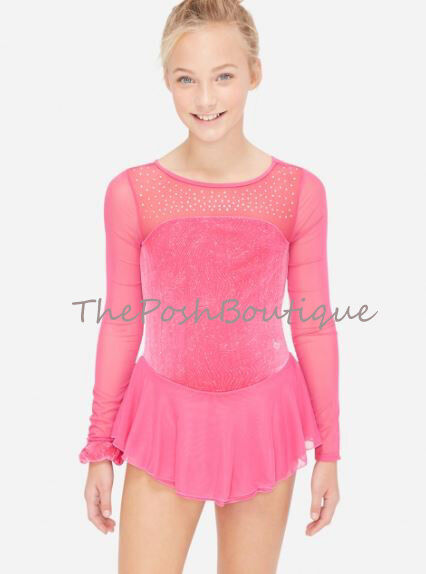 NWT Figure  Skating Dance Dress Ice Pink Leotard Justice Girl 8 10 12 14 16 18 20  we supply the best