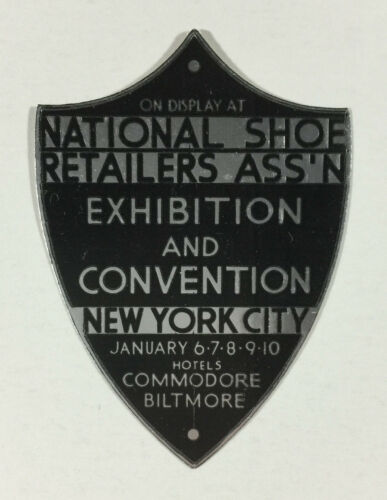 Foil Poster Stamp - National Shoe Retailers Assn. Exhibition & Convention NYC