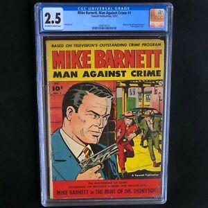 Mike-Barnett-Man-Against-Crime-1-Fawcett-1951-CGC-2-5-ONLY-3-in-CENSUS