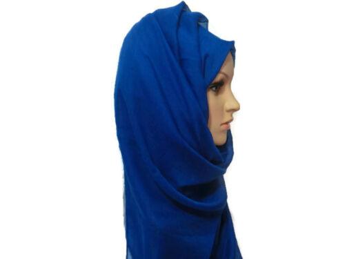 Ladies Fashion Big Large Maxi Long Wide Plain Viscose Scarf//Hijab Shawl//Wrap