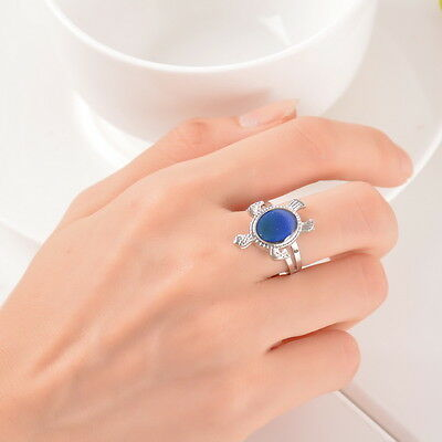 1PC Mood Ring Changing Color Turtle Adjustable Temperature Size 7