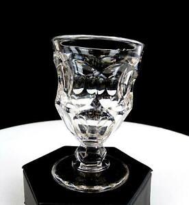 ASHBURTON-CREASED-NEW-ENGLAND-GLASS-EAPG-CLEAR-FLINT-3-4-034-WINE-GLASS-1848-1870