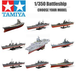 Tamiya-1-350-Battleship-Plastic-Model-Kit-George-Bismarck-Turpitz-Enterprise