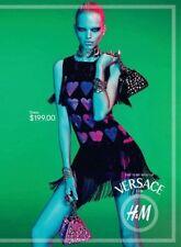 Versace For H&M Black Fringed Pink Hearts Dress  UK10 US 6 EU 36 New BNWT
