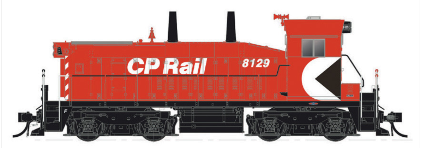RAPIDO 1 87 HO CP CANADIAN PACIFIC SW1200 RS RD.  8135 DCC & SOUND 26517 F S