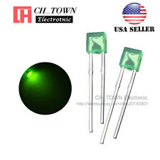 100pcs 2x3x4mm Diffused Green Light Rectangle Rectangular Square Led Diodes Usa