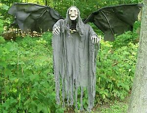 Brand new animated flying reaper halloween prop ebay for Animated flying reaper decoration