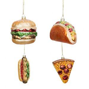 Widdop-Bingham-Lot-de-4-aliments-Noel-Baubles-Nouveaute-Decoration-de-Noel