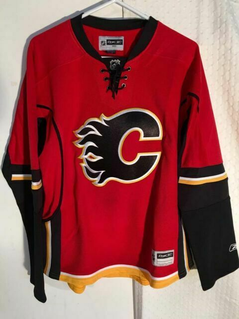 Reebok Premier Nhl Jersey Calgary Flames Team Red Alt Sz L For Sale Online Ebay