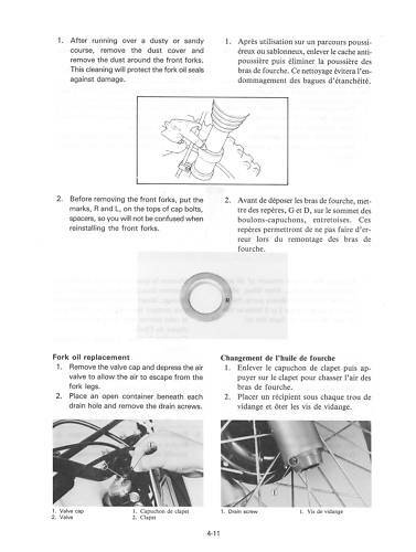 YAMAHA Workshop Manual YZ490 YZ490K 1983 VMX Maintenance Service ...