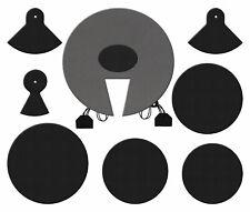 6 Stück Snare Drum Dämpfer Pads Schalldämpfer Pad zum Trommeln Praxis Kaffee