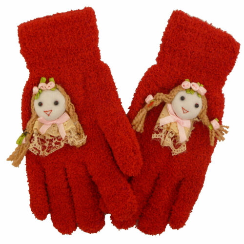 1 Pair Girls Nice Gloves /& Mittens Stretchy Knitted Winter Warm