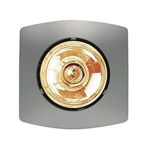 Hpm Bathroom Heater Single Lamp Instant Heat 275w Matt Silver Ebay