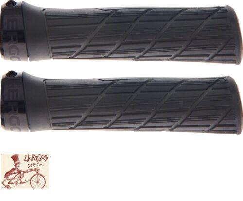 ERGON GE1 EVO FACTORY LOCK-ON FROZEN BLACK BICYCLE GRIPS