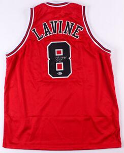 the latest b856b d332c Details about Zach LaVine Signed Chicago Bulls Jersey (Beckett COA) 2x NBA  Slam Dunk Champion