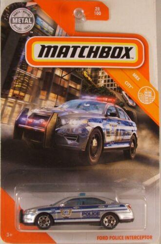 NEW in BLIST 2020 issue MATCHBOX #28 Ford Police Interceptor w//6-spoke wheels