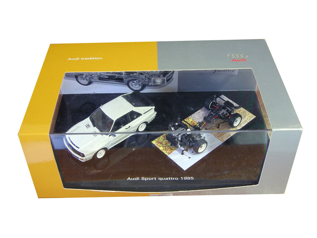 AUDI SET SPORT QUATTRO 1985 MINICHAMPS BOX 1 43 25° ANNIVERSARY RARE
