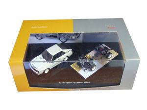 Set Audi Sport Quattro 1985 Minichamps Box 1/43 25 ° anniversaire rare