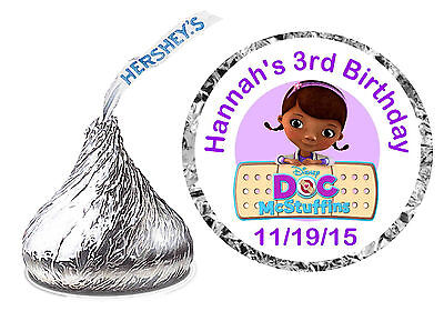 216 DOC MCSTUFFINS BIRTHDAY PARTY FAVORS HERSHEY KISS KISSES LABELS
