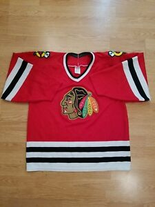 d09734926cc Image is loading Chicago-Blackhawks-Authentic-CCM-NHL-Hockey-Jersey-Vintage-