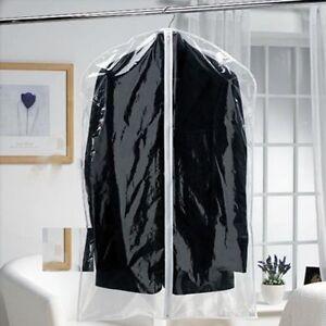 Colgante Prendas Traje Chaqueta Plástico Corto Transparente Abrigo qCvAa