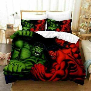 3D Hulk Superhero Duvet Cover Quilt