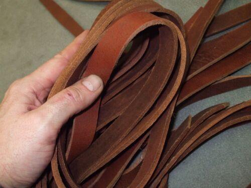 Hundeleine 2 ≈ 10 m Latigo Lederriemen Stücke ≈ 20 mm breit Riemenleder braun f