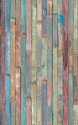 2 Meters OLD WOOD WOODEN SCRAPWOOD STICKY BACK PLASTIC SELF ADHESIVE VINYL FILM