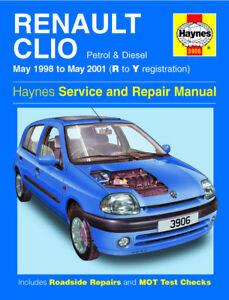 3906 haynes renault clio petrol diesel may 1998 may 2001 rh ebay co uk manual de taller renault clio 2 pdf manual de fusibles renault clio 2