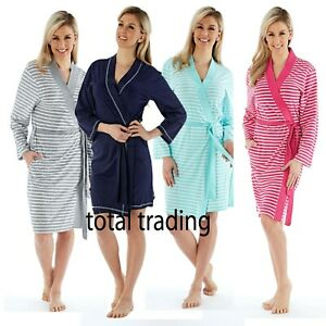 WOMENS-LADIES-DRESSING-GOWN-SUMMER-COTTON-LIGHTWEIGHT-GOWNS-HOLIDAY-ROBE