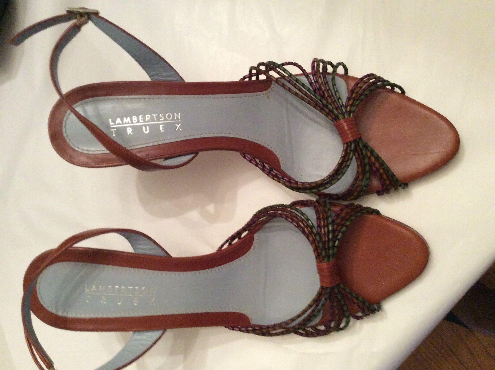 EXCELLENT CONDITION Lambertson Truex Leather 9 Sandals - US 9 Leather 766e01