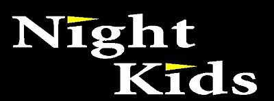 Night kids sticker/decal Initial D white color x2 300mmx100mm