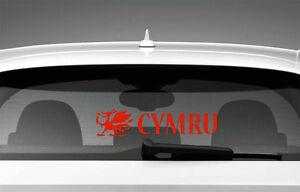 Cymru-Welsh-Dragon-Wales-Car-Sticker-Window-Styling-Decal-Red