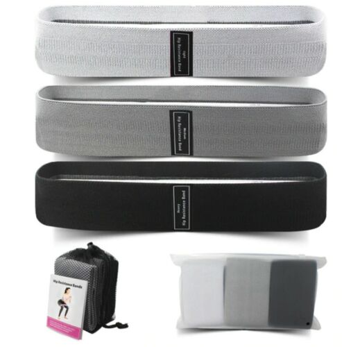 Fitness Resistance bands Set 3 Heavy Duty Fabric New Gym Training